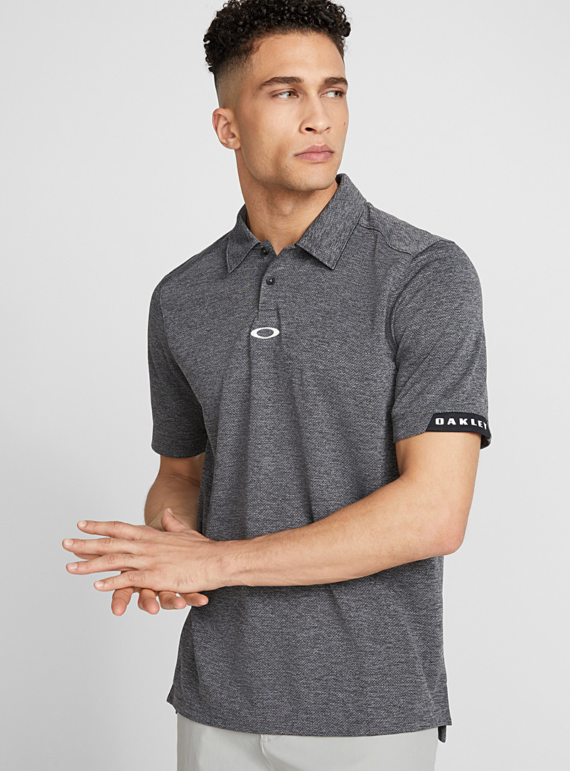 Elipse micro perforated polo - Polos - Patterned Grey