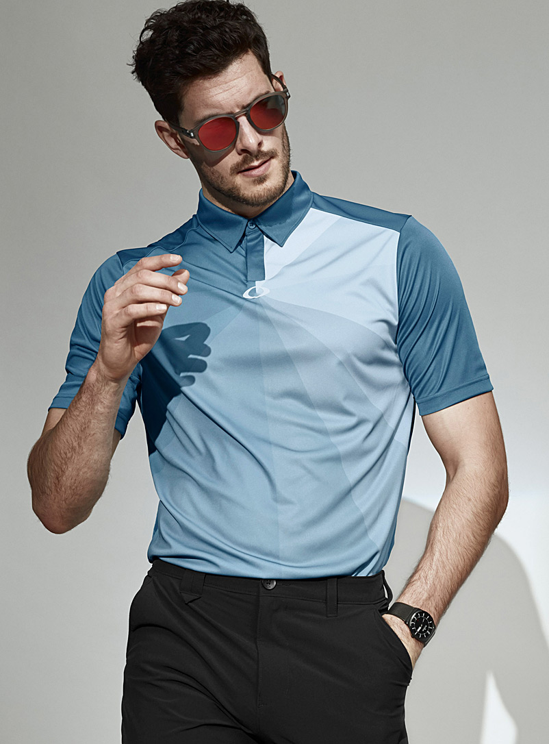 Oakley Patterned Blue Blue ray polo for men