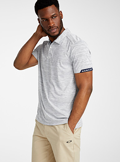 Gravity heathered microfibre polo