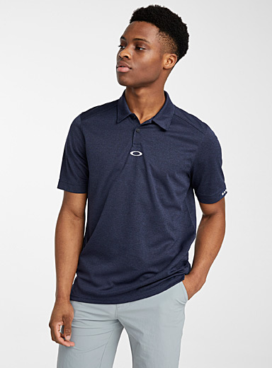 Oakley Dark Blue Elipse micro perforated polo for men