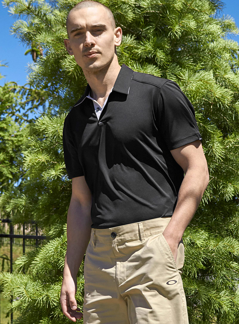 Oakley Black Divisional polo for men