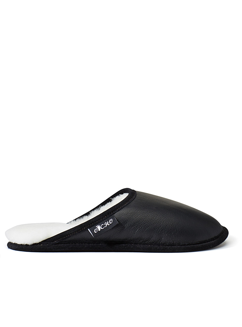 black-lambskin-mule-slippers