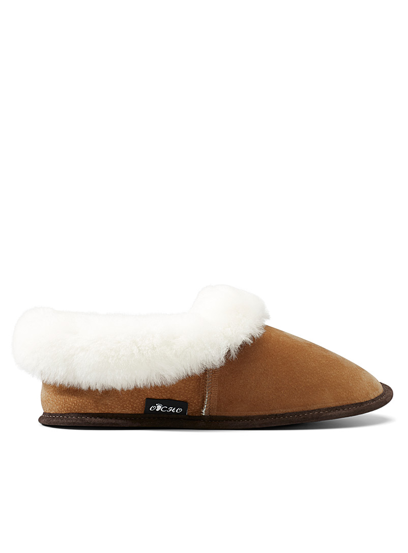 Le 31 Fawn Cuffed lambskin slippers  Men for men
