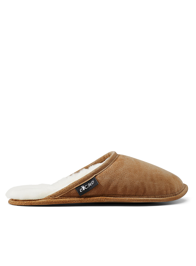 Simons Fawn Lambskin mule slippers  Men for men