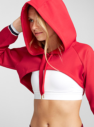 Boxer-style cropped hooded top