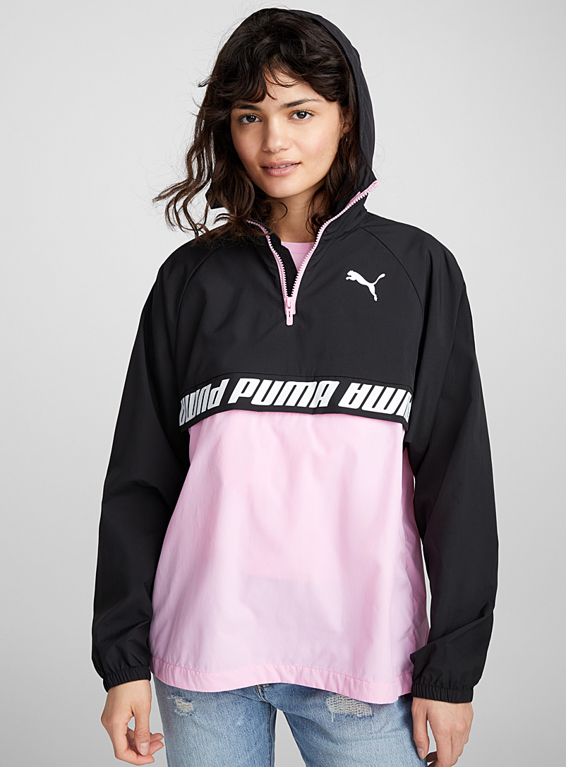 Candy pink packable nylon anorak - Anoraks and Parkas