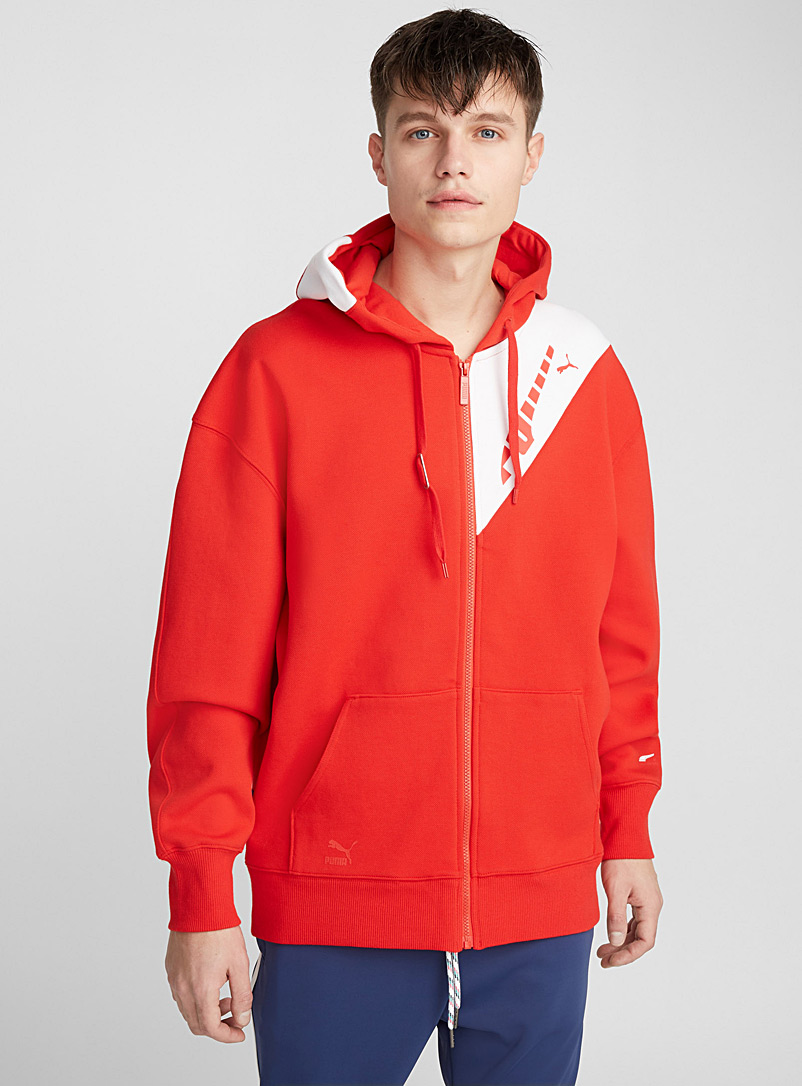 ADER zip-up sweatshirt - Sweatshirts & Hoodies - Red