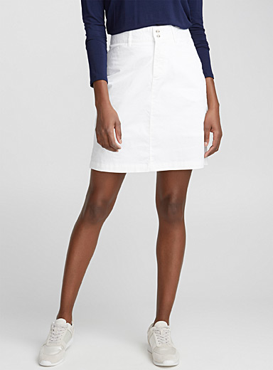 La jupe-short coton stretch