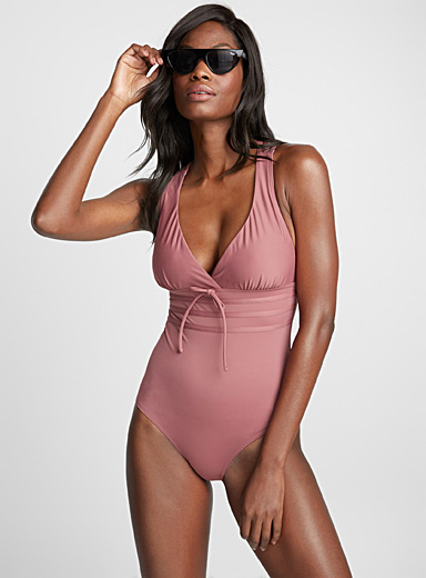 Totally Retro strappy crisscross-back one-piece