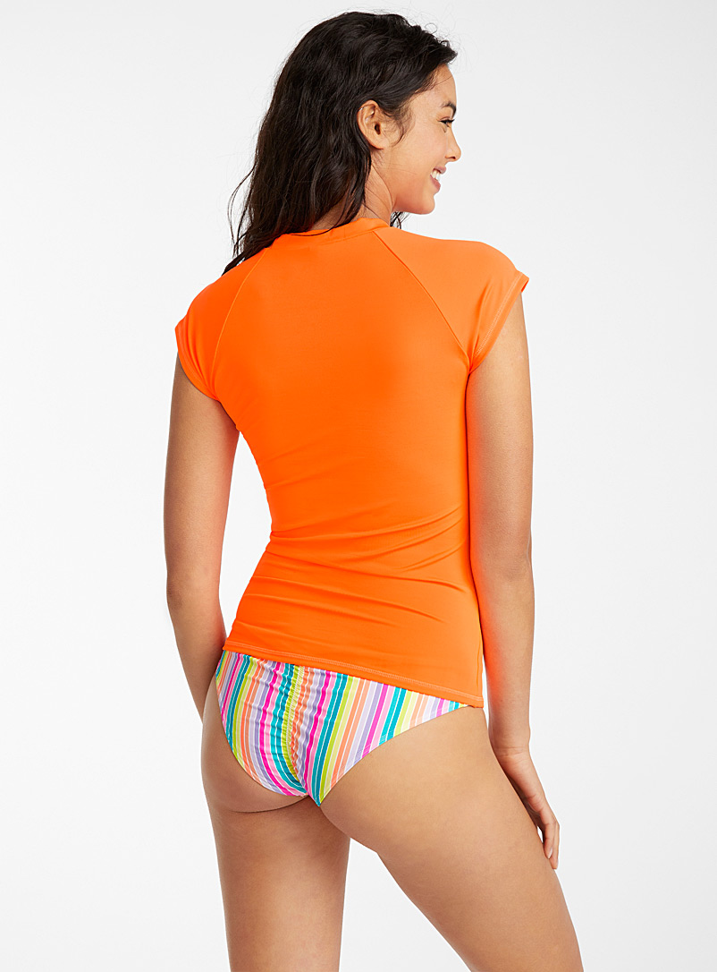 Simons Orange High contrast rashguard for women