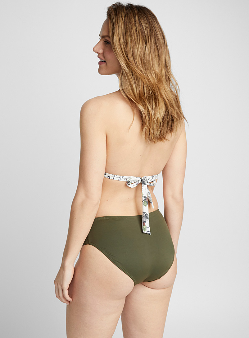 High rise ruched bottom - High Waist - Mossy Green