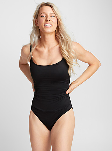 Draped essential one-piece