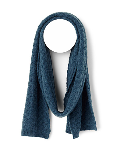 Touch of cashmere basket knit scarf