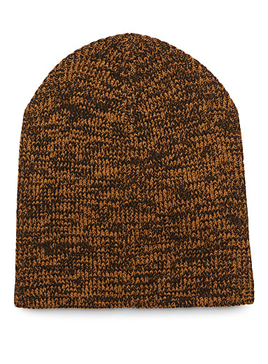 Heather knit tuque