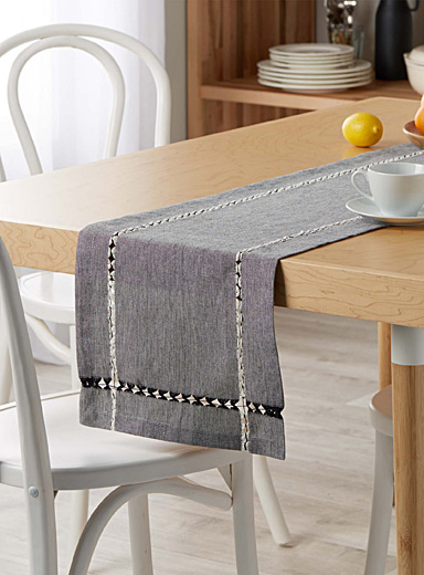 Openwork-frame table runner  13&quote; x 72&quote;