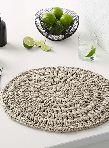 Island warmth woven cotton place mat