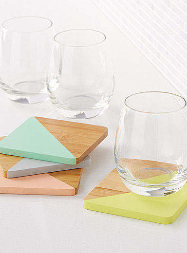 Pastel angle coasters <br>Set of 4