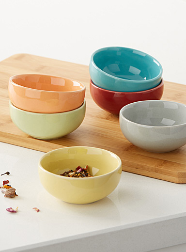 Colourful pinch bowls <br>Set of 6