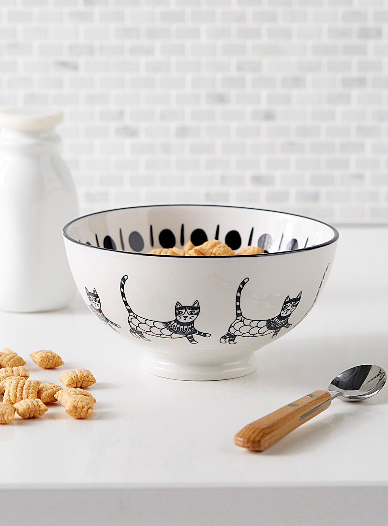 Fiesta cat stoneware bowl