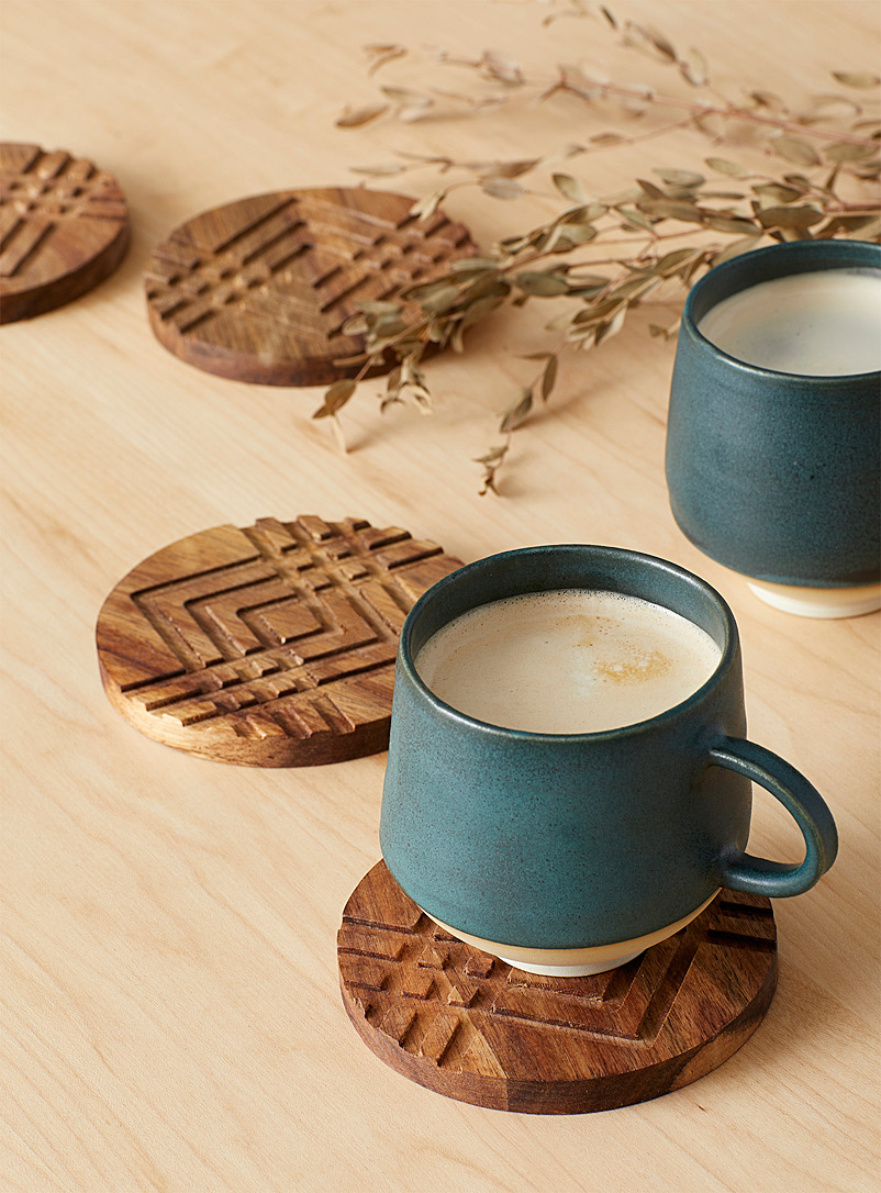 Geo cutout coasters Set of 4