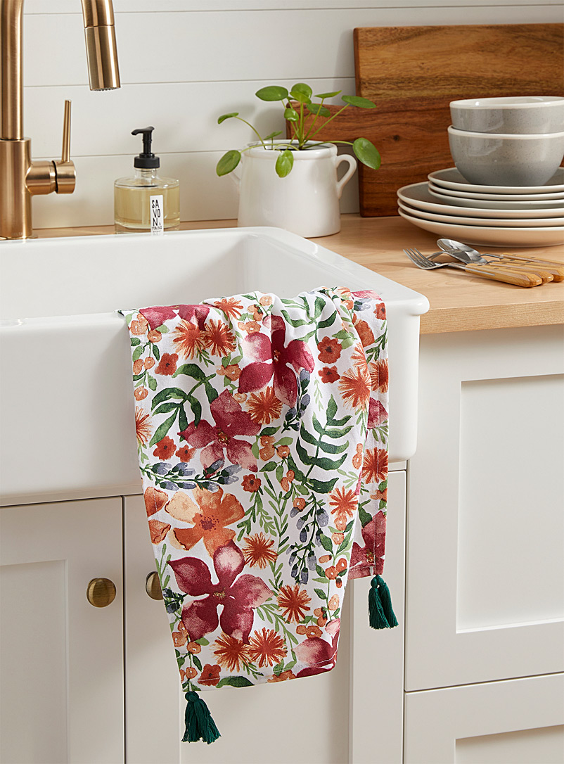 Botanical garden tea towel