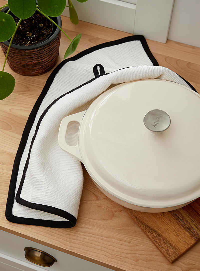 Danica White Kitchen cloth with thermal protection