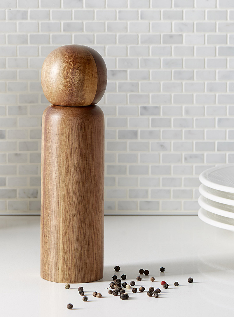 Acacia wood pepper mill - Useful & Chic Extras - Assorted
