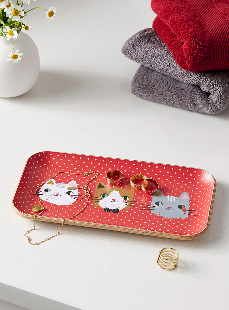Danica Assorted Playful cat small tray