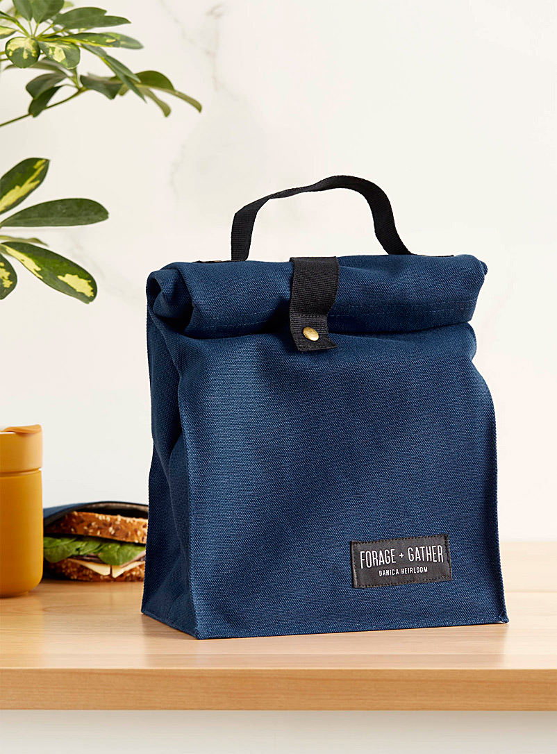 Danica Blue Heritage canvas lunch bag