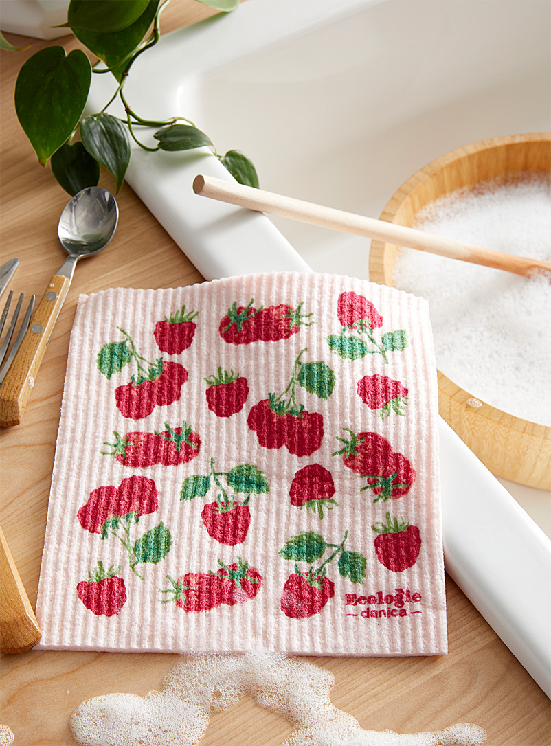 Danica Assorted  Raspberry field sponge cloth