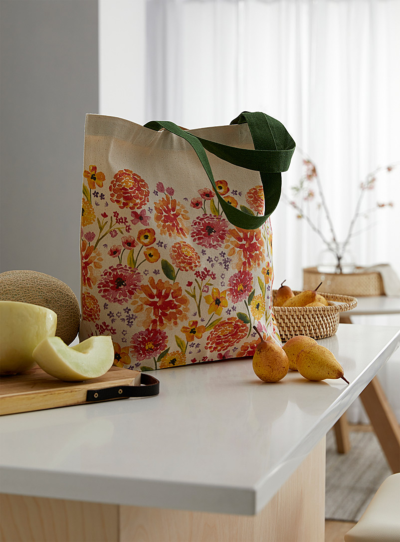 Danica Assorted Colourful floral reusable bag