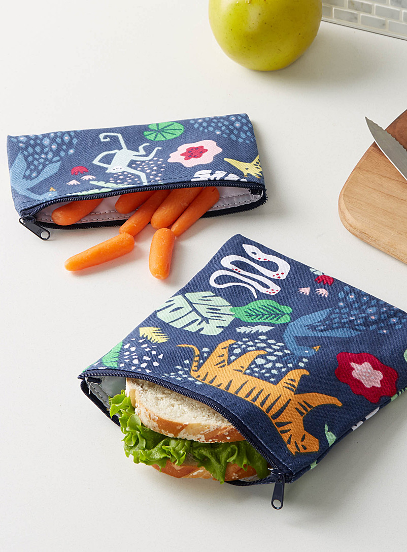 Strutting peacock snack bags  Set of 2 - Packed Lunches