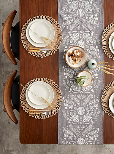 Danica Grey Walk through the woods table runner  13