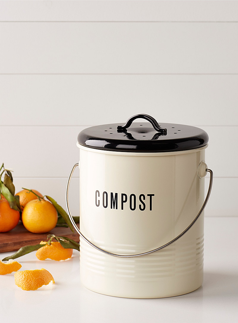 Vintage compost bin - Kitchen Tools & Accessories - Black and White