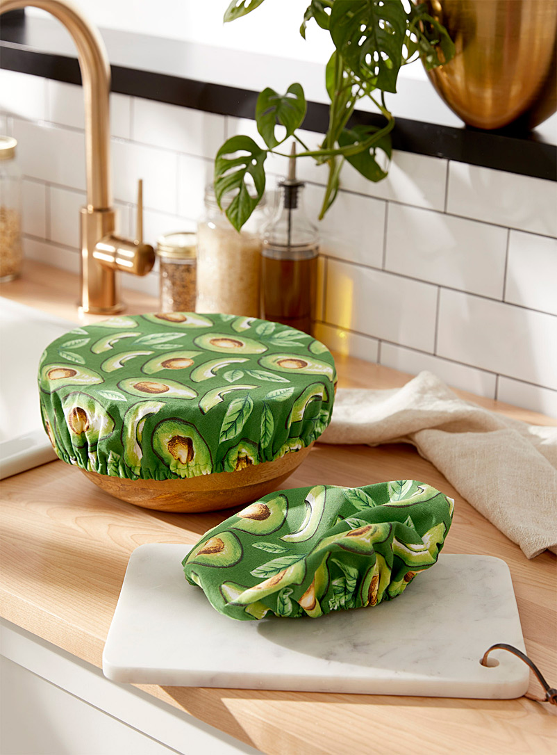 Danica Assorted Avocado bowl covers  Set of 2