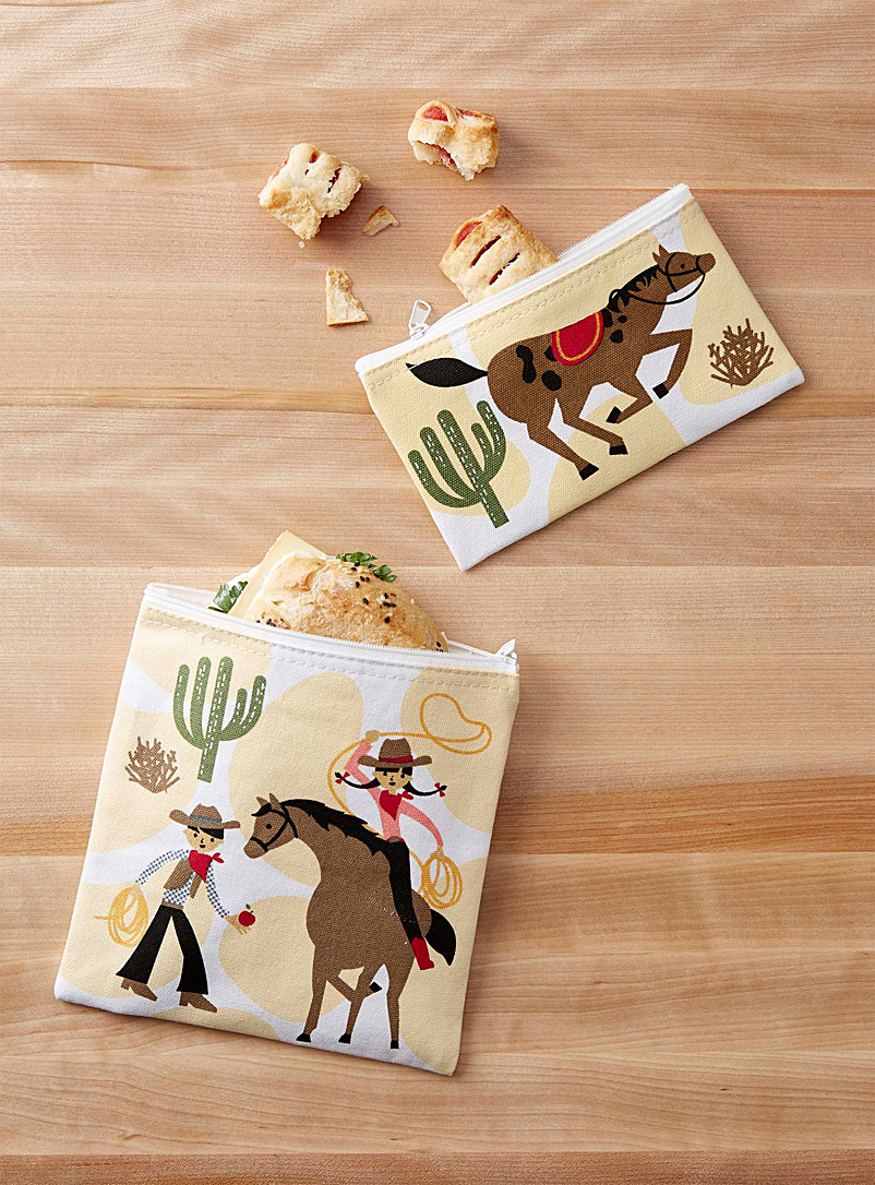 Danica Assorted Far West snack bags  Set of 2