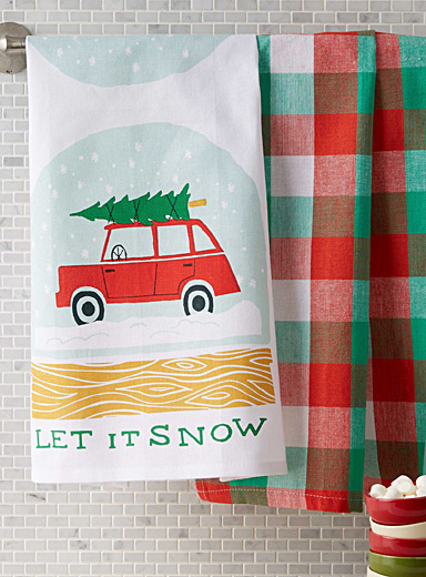 Let it snow tea towels  Set of 2