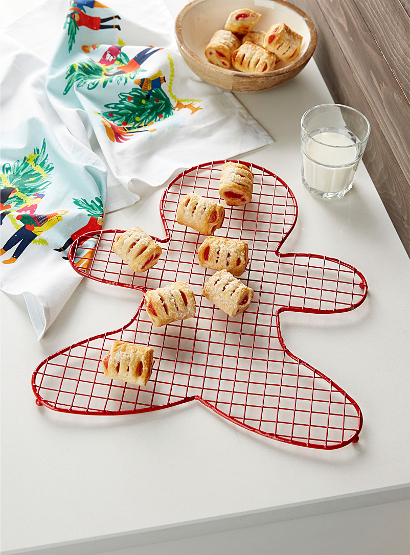 Gingerbread man cooling rack  42 x 36 cm - Kitchen Tools & Accessories - Red