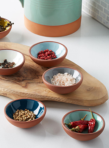 Small terracotta bowls  Set of 6