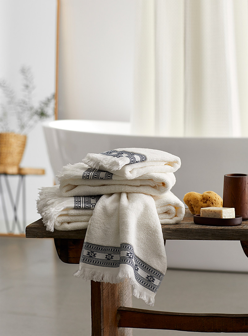 Embroidered boho towels