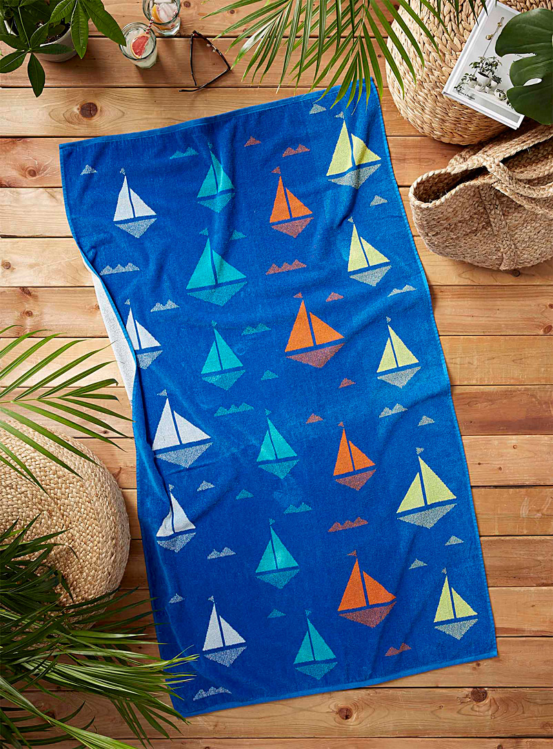 Simons Maison Assorted Graphic sails beach towel  86 x 160 cm