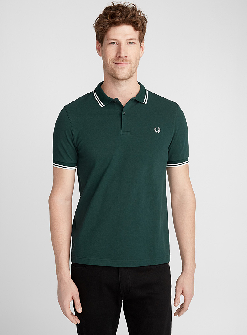 Perry piqué polo - Polos - Bottle Green