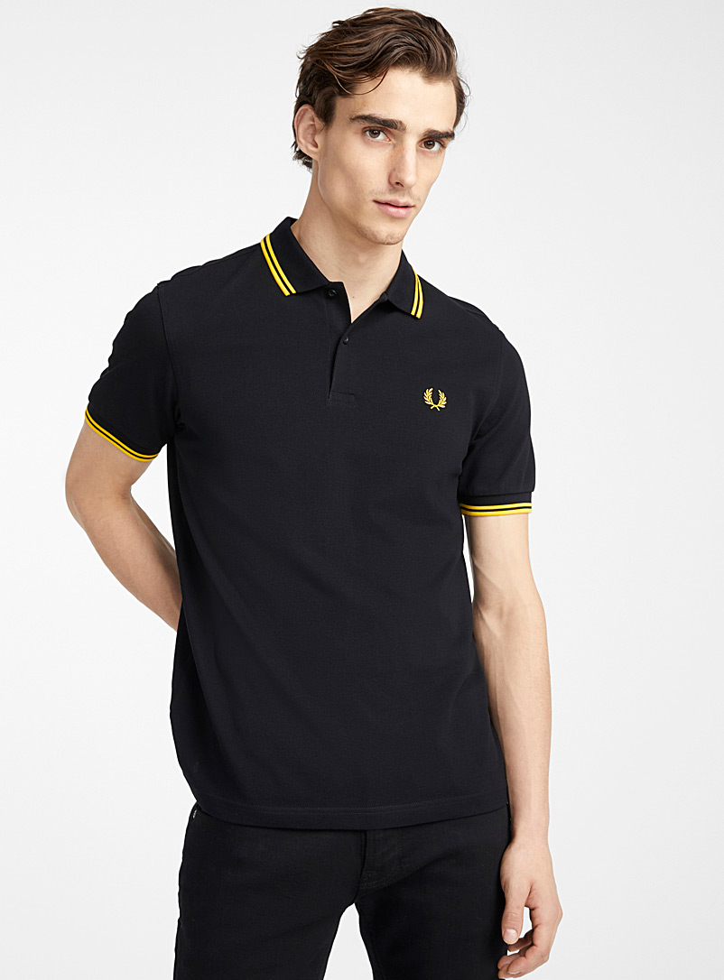 Fred Perry Black Perry logo polo for men