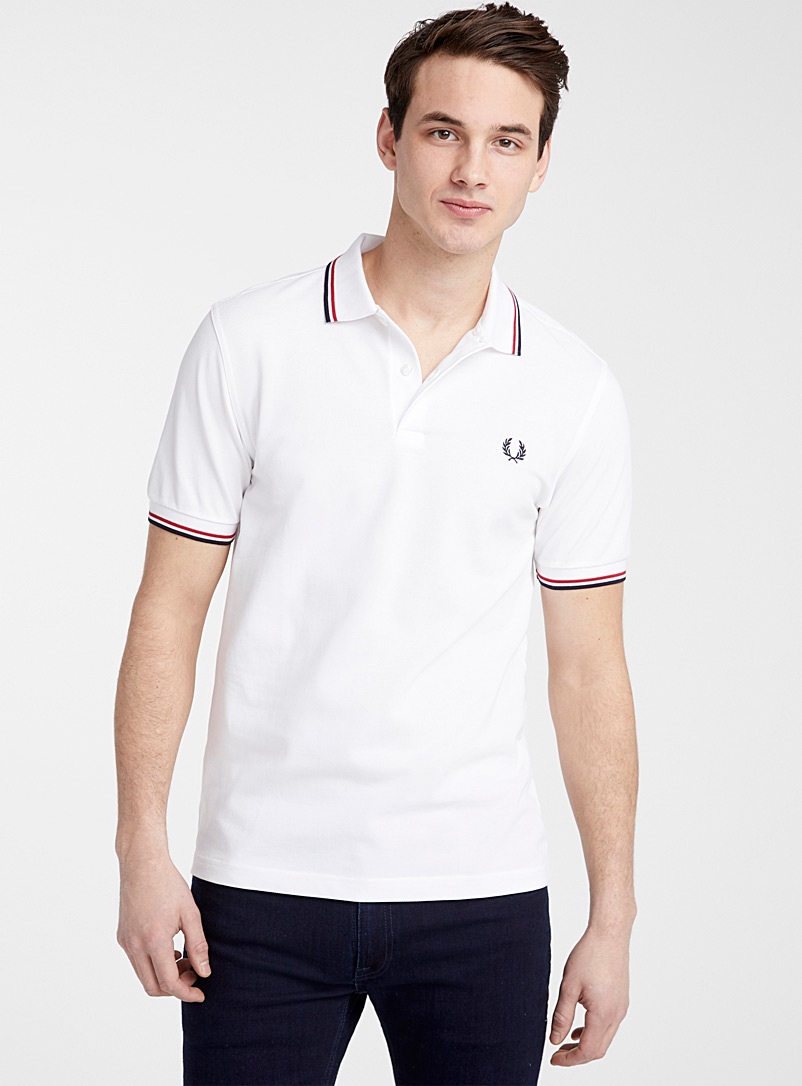 Fred Perry White Perry logo polo for men