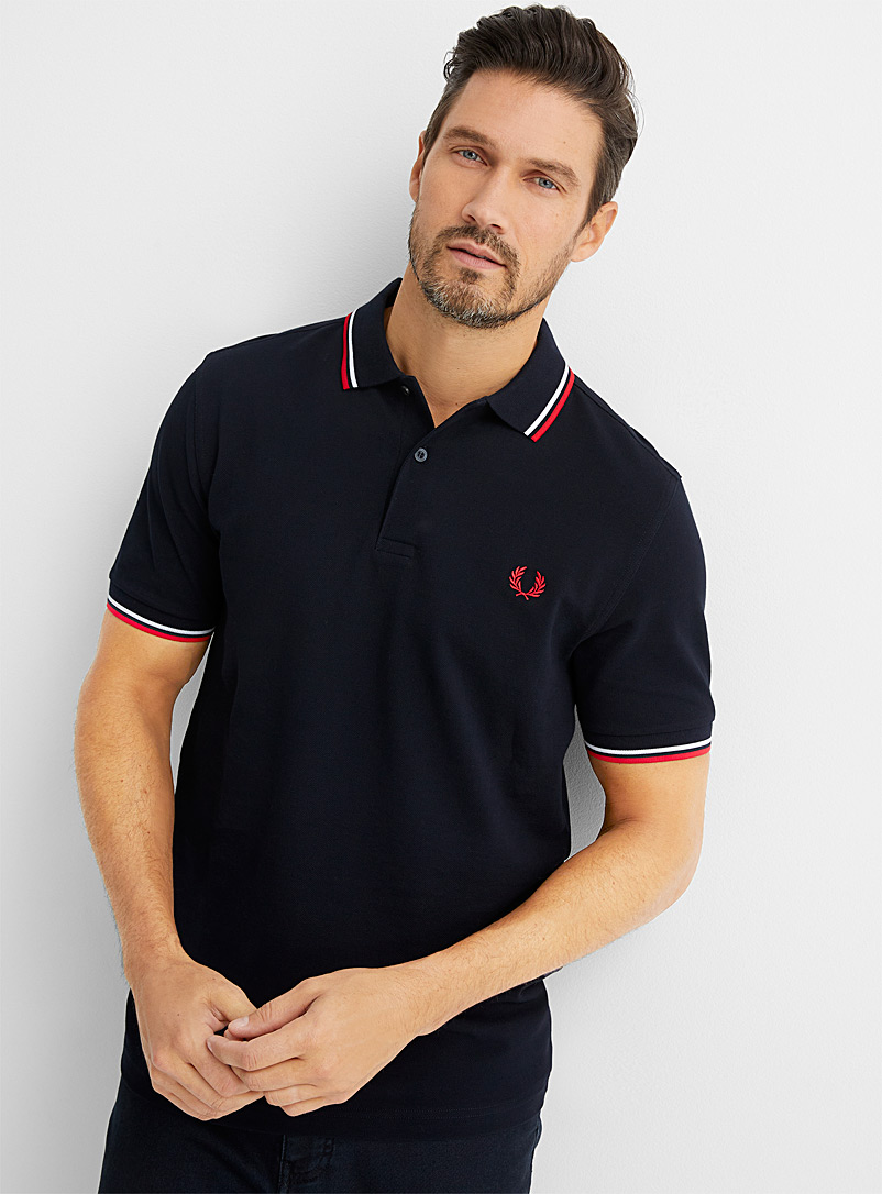Fred Perry Marine Blue Perry logo polo for men
