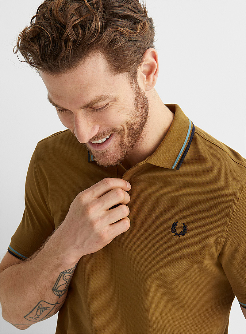 Fred Perry Brown Perry logo polo for men