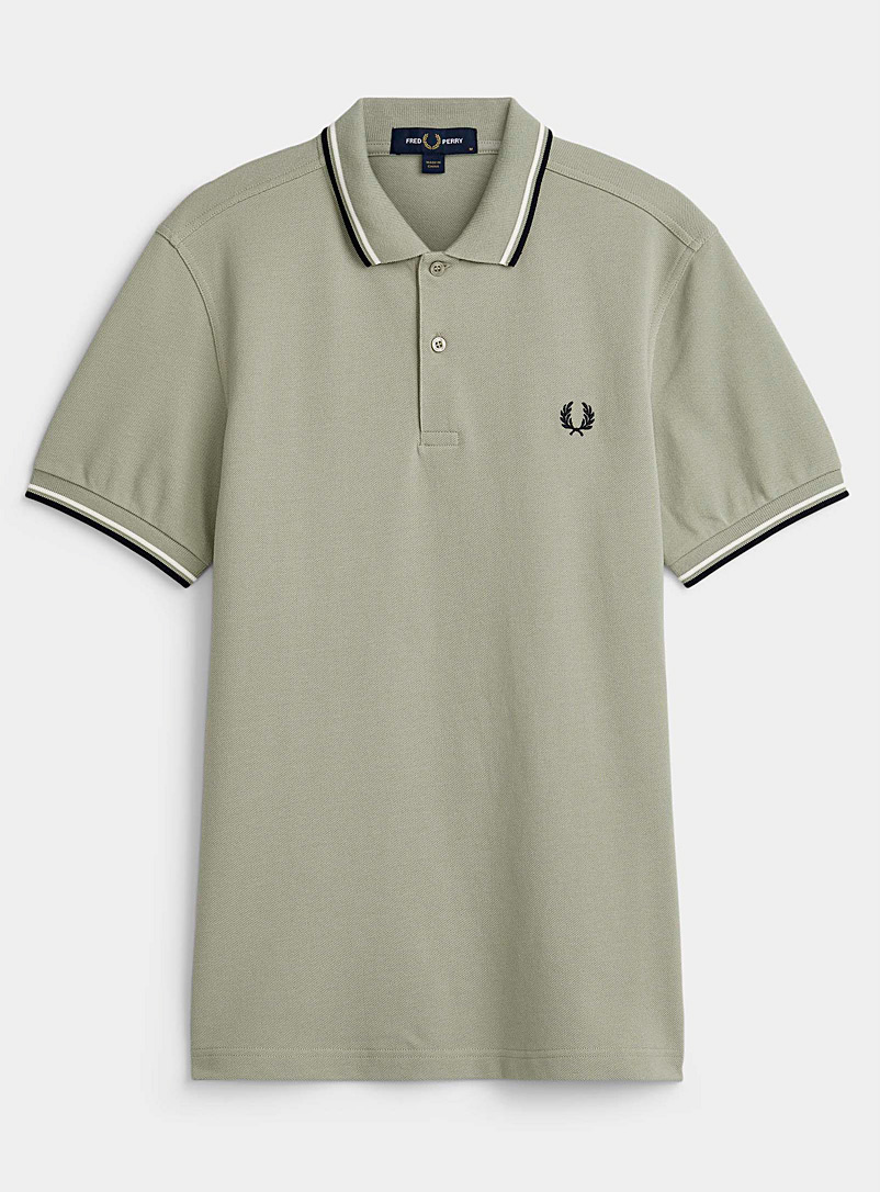 Fred Perry Green Perry logo polo for men
