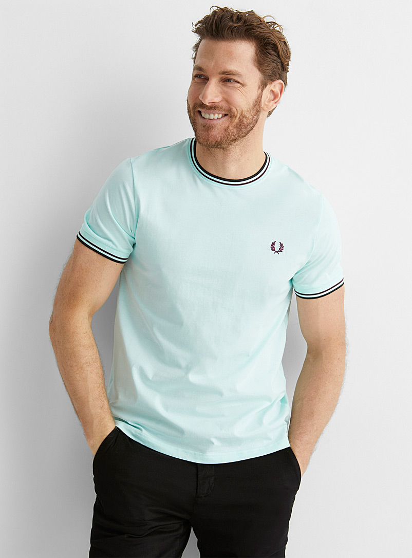 Fred Perry Baby Blue Sporty accent T-shirt for men