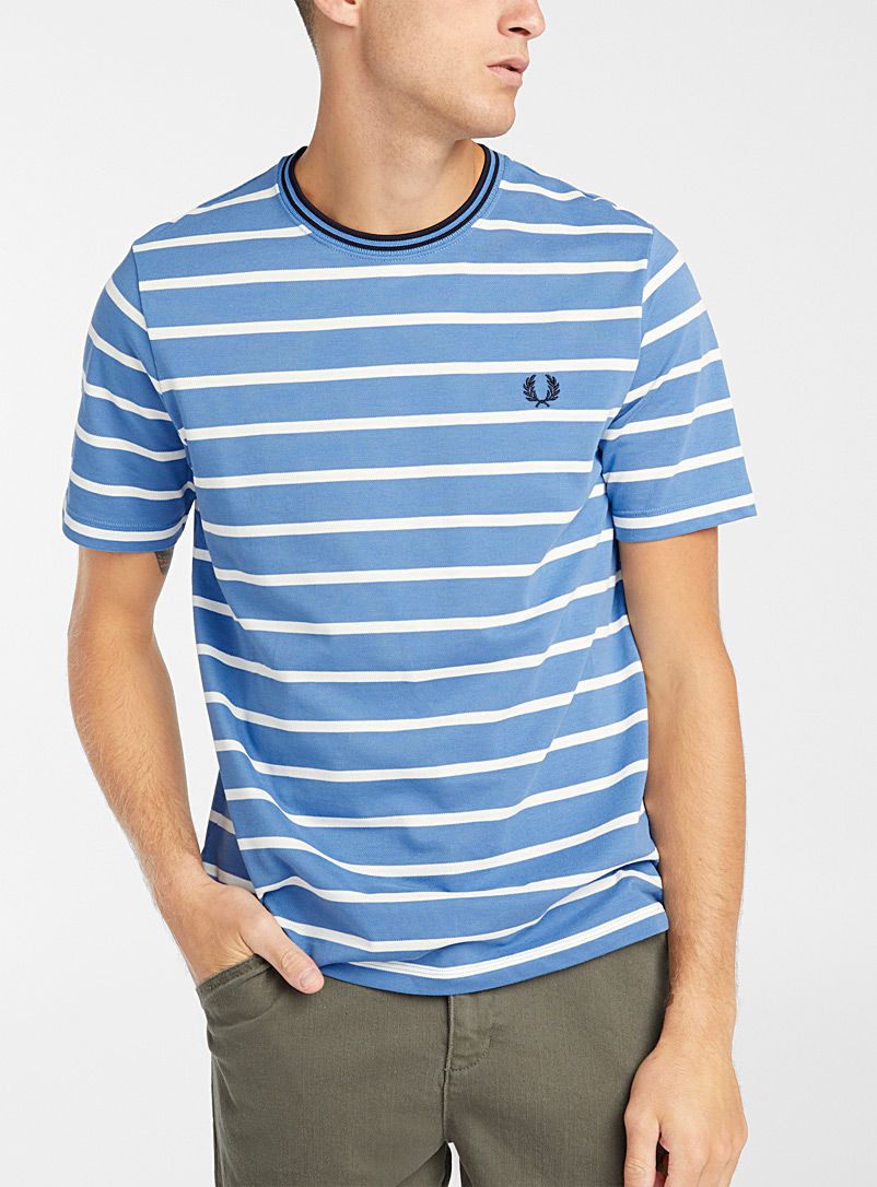 Twin-stripe piqué T-shirt