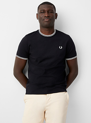 Ribbed trim T-shirt
